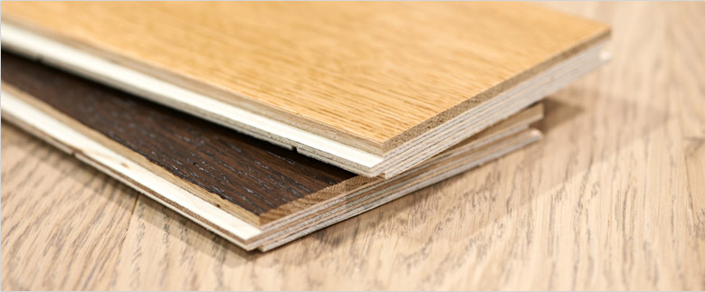 Engineered wood planks are easy to set up